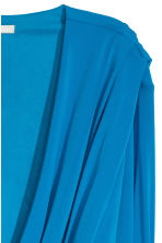 Asymmetric wrapover top - Bright blue - Ladies | H&M CN 3