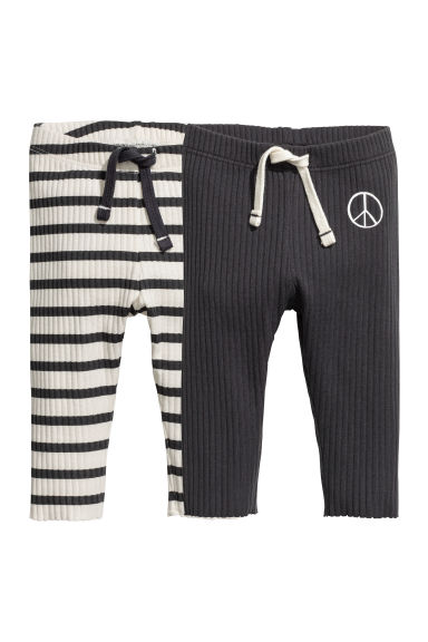 2er-Pack Jerseyleggings - Dunkelblau/Gestreift - KINDER | H&M CH 1
