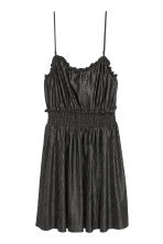 Pleated dress - Black/Glittery - Ladies | H&M CN 2