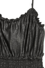 Pleated dress - Black/Glittery - Ladies | H&M CN 3