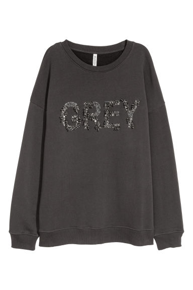 Sweatshirt with a motif - Black - Ladies | H&M CN 1