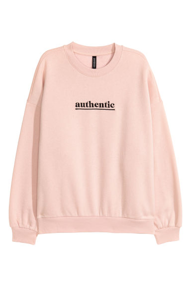 Sweatshirt med motiv - Puderrosa/Authentic - DAM | H&M SE