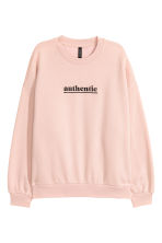 Motifli Sweatshirt - Toz pembe/Authentic - KADIN | H&M TR 1