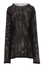 Top in mesh - Nero - DONNA | H&M IT 2