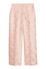 Jacquard-weave trousers - Light pink - Ladies | H&M IE 2