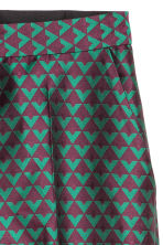 Jacquard-weave trousers - Dark purple/Green - Ladies | H&M 3