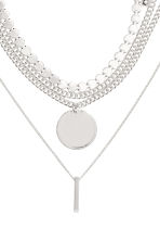 5-pack necklaces - Silver-coloured - Ladies | H&M CN 2
