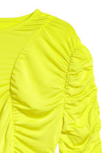 Draped top - Neon yellow - Ladies | H&M CN 3