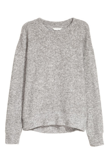 Fine-knit jumper - Grey marl - Ladies | H&M