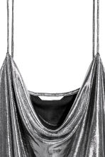 Draped top - Silver-coloured/Coated - Ladies | H&M IE 3