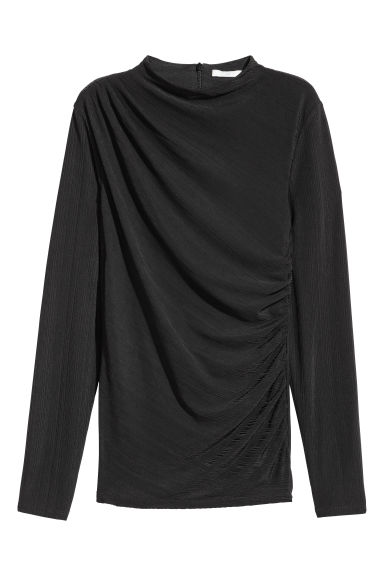 Draped top - Black - Ladies | H&M