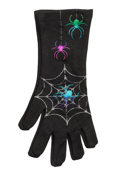 Fancy dress gloves - Black/Spider - Kids | H&M