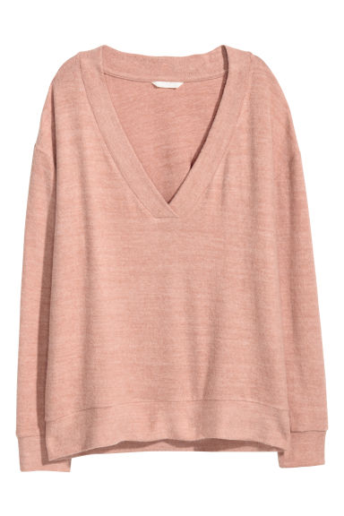 V-neck top - Old rose - Ladies | H&M