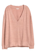 V-neck top - Old rose - Ladies | H&M IE 2