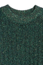 Glittery jumper - Green/Glittery - Ladies | H&M 3