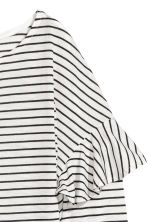 Long-sleeved flounced top - Natural white/Black striped - Ladies | H&M CN 3