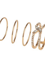 7-pack rings - Gold-coloured - Ladies | H&M CN 3