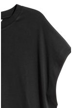 Pima cotton top - Black - Ladies | H&M CN 3