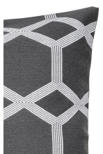 Jacquard-weave cushion cover - Anthracite grey - Home All | H&M IE 2