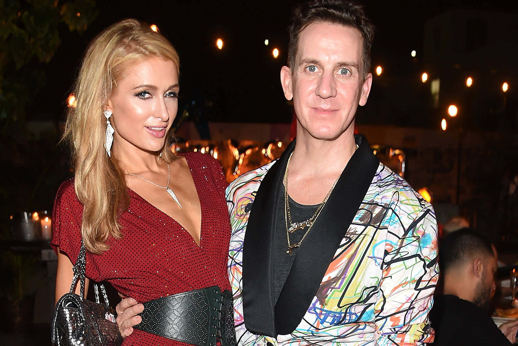 Paris Hilton and Jeremy Scott at the Jeremy Scott Art Basel Party, Getty Images.