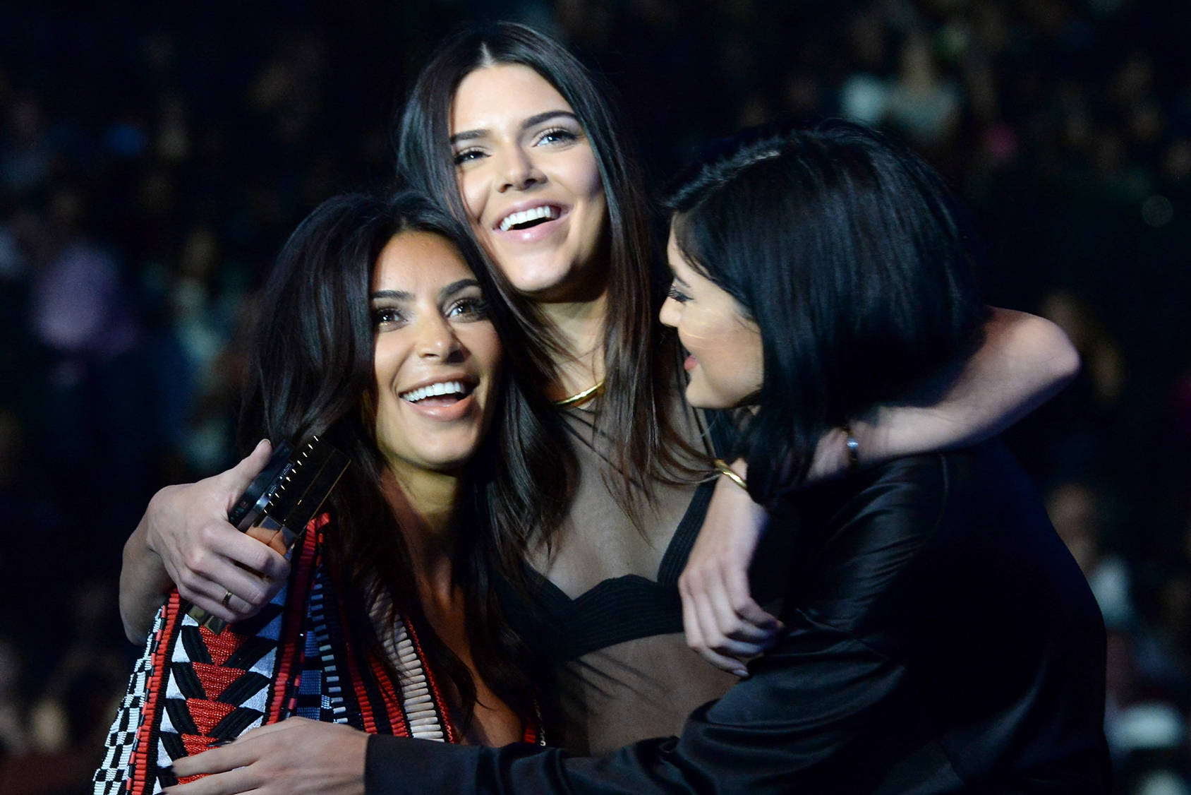Sisters Kim Kardashian, Kendall Jenner and Kylie Jenner, Getty Images.