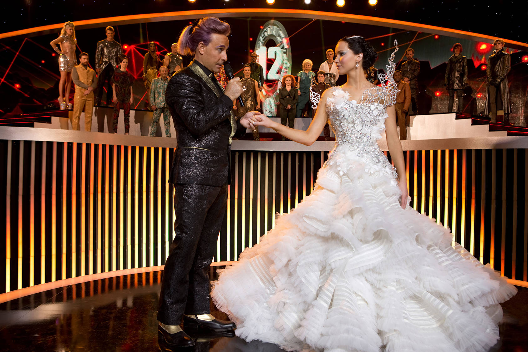 Katniss in her 11 kilogram wedding dress, All Over Press.
