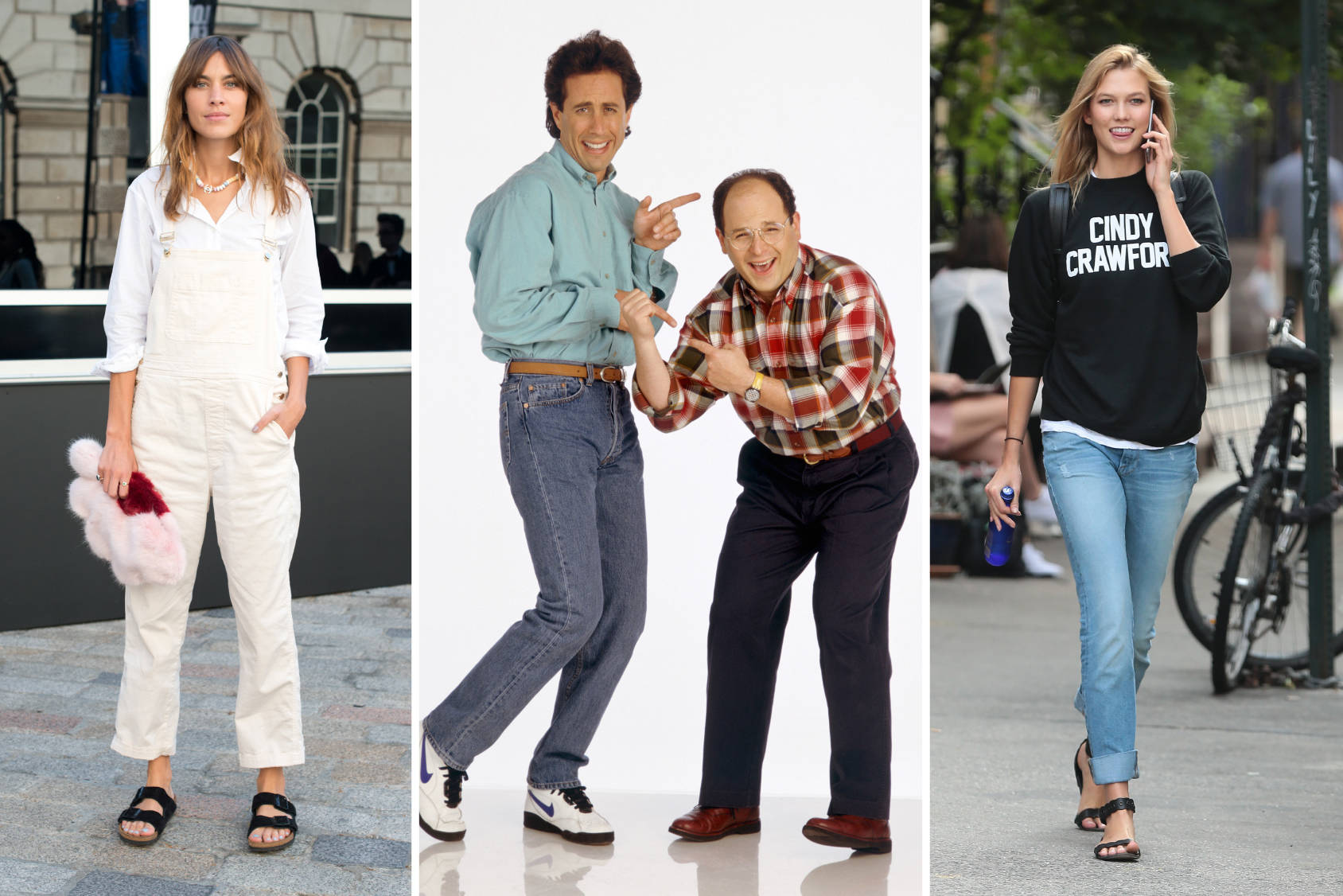 Normcore stars Alexa Chung, Jerry and George and Karlie Kloss, Getty Images.