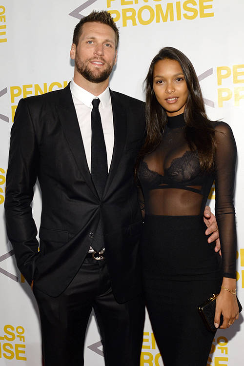 Basketball playing boyfriend Jared Homan and Lais Ribeiro, Getty Images.
