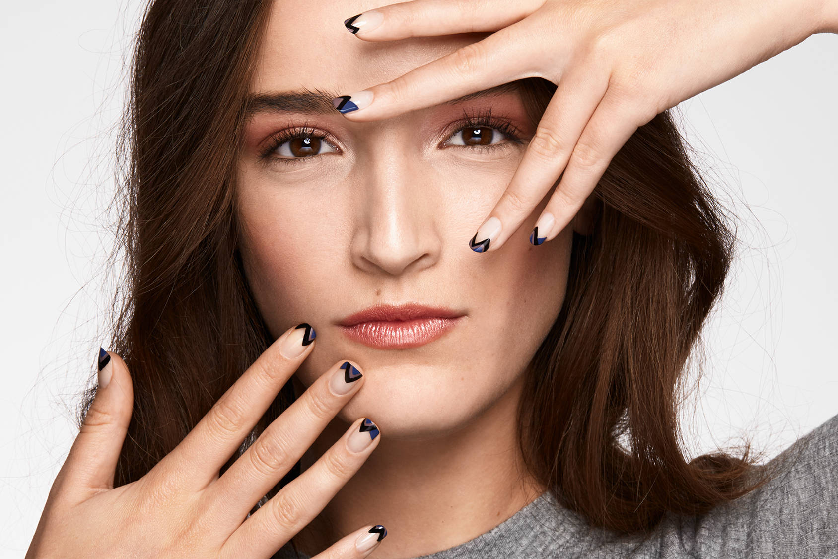 Create a modern French manicure in just six easy steps.