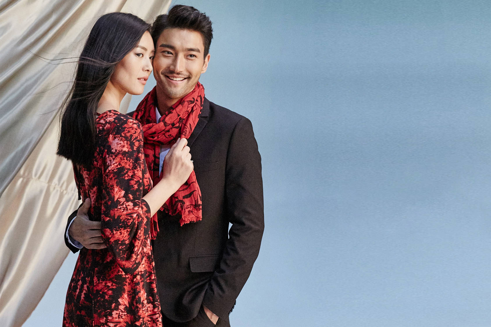 Supermodel Liu Wen and singer/actor Siwon Choi are the faces of this year's H&M Chinese New Year campaign.