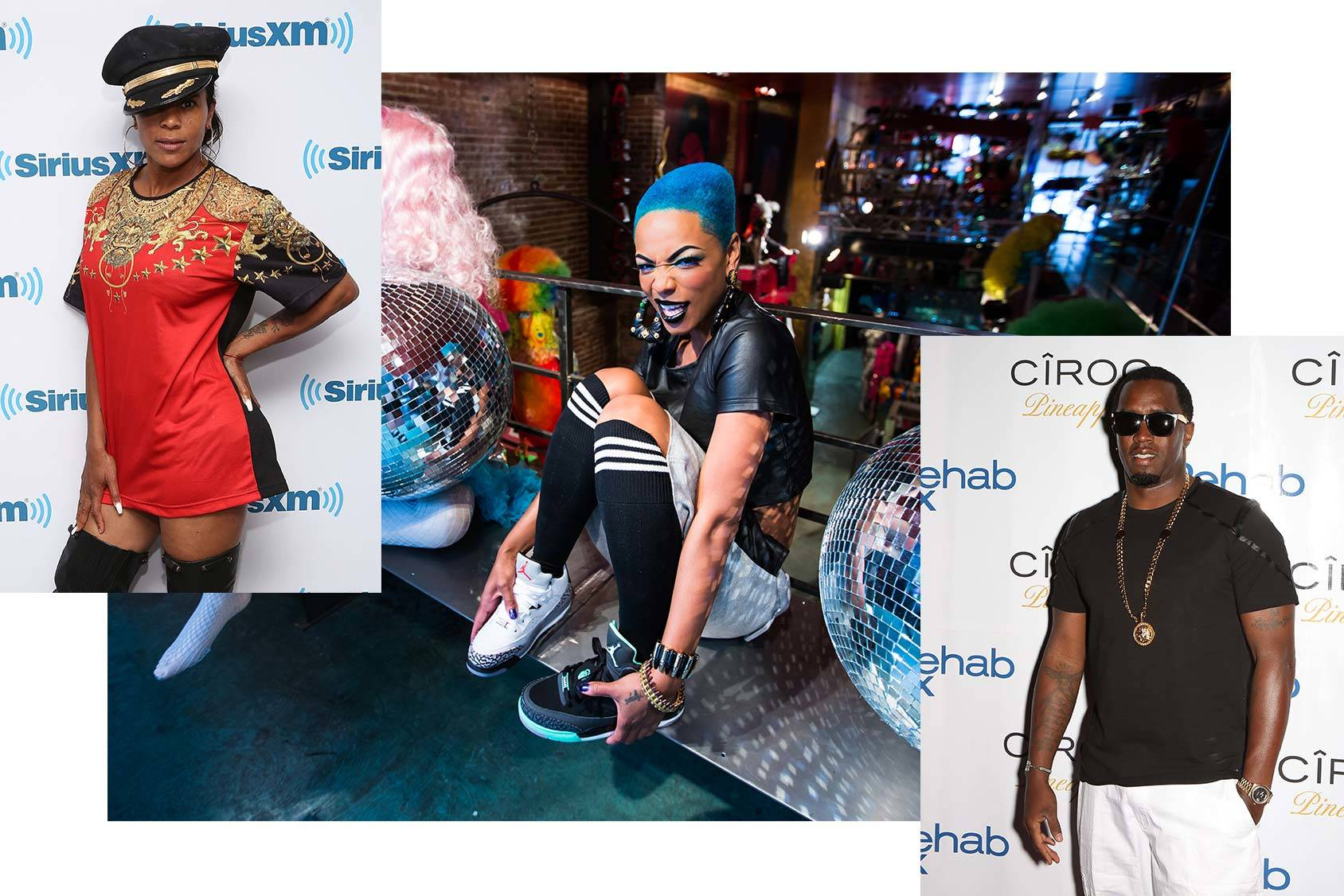 Sharaya J follows Laurieann Gibson and Diddy, Getty Images.
