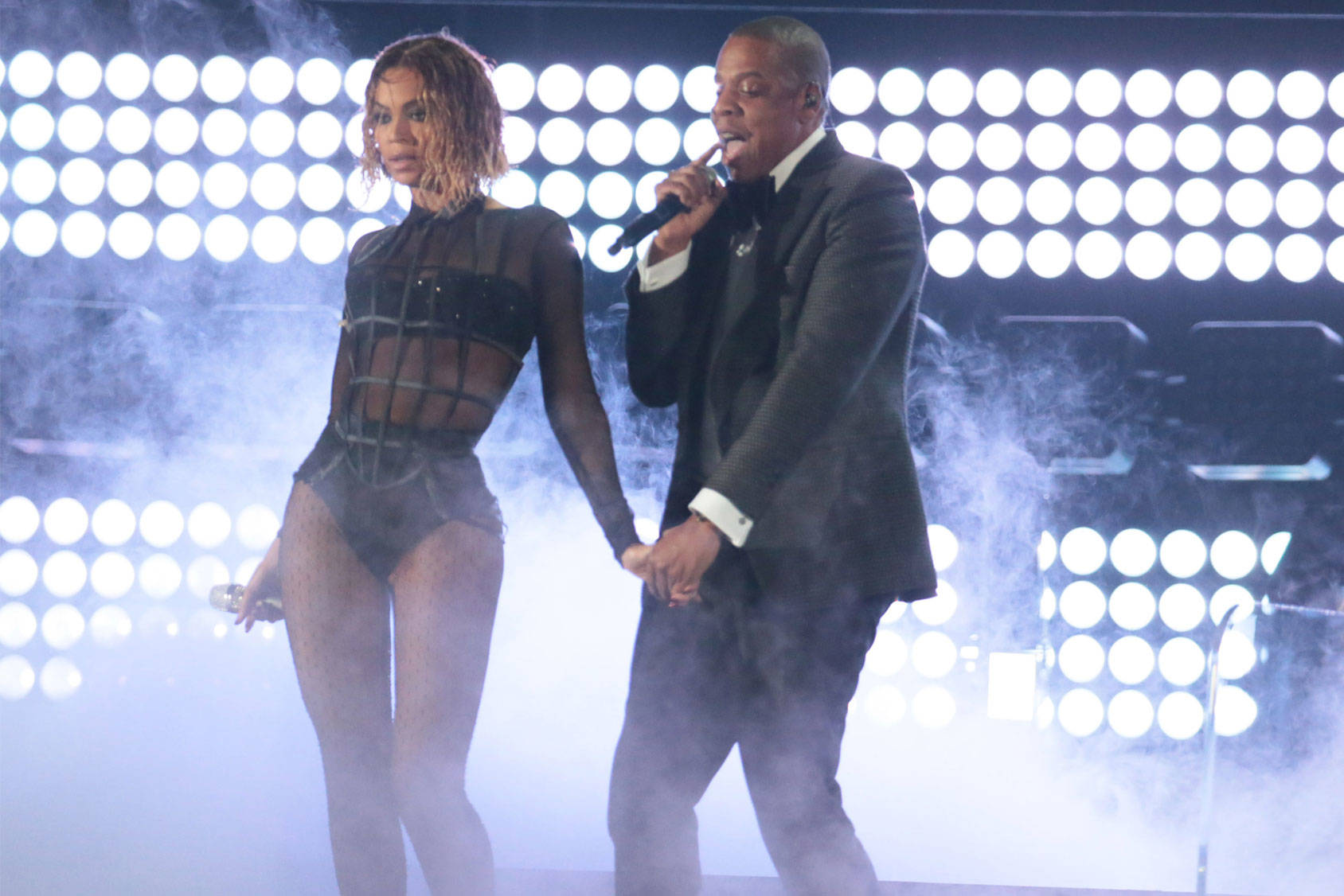Beyoncé and Jay-Z at the Grammys, All Over Press