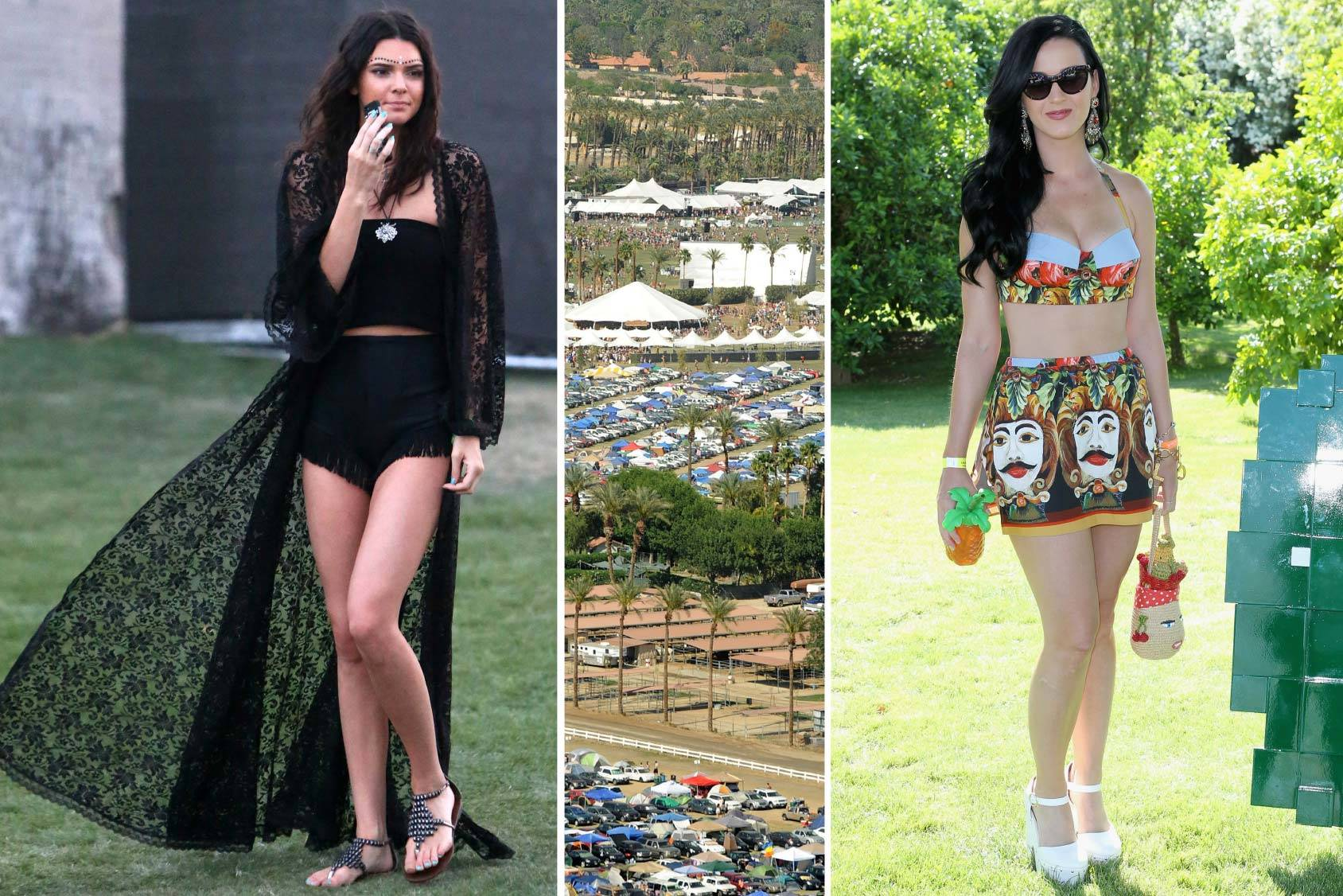 Kendall Jenner and Katy Perry show of their best Coachella looks, All Over Press/Getty Images.