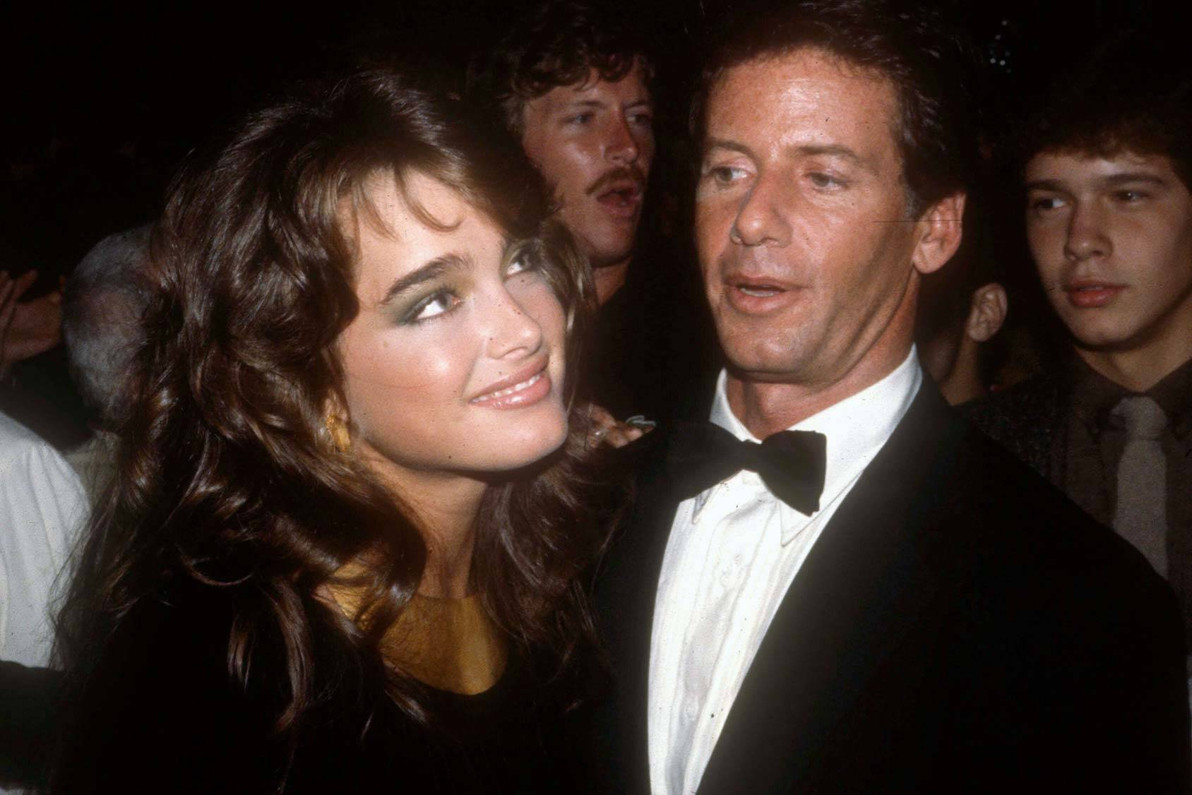 Brooke Shields and Calvin Klein back in 1981, All Over Press.