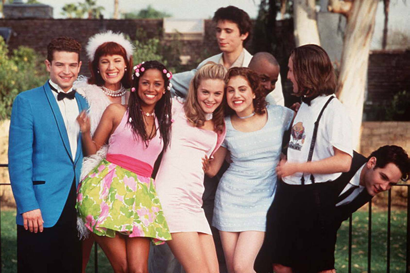 Cher and the gang from Clueless, All Over Press