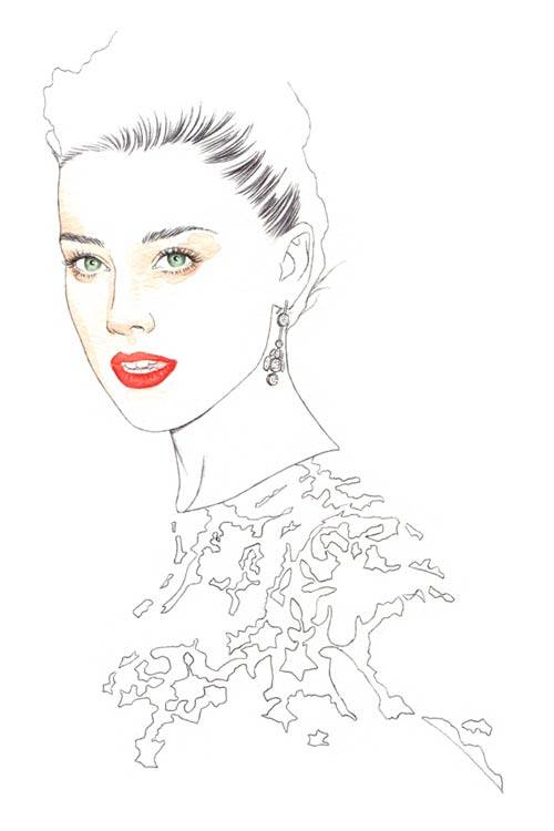 Amber Heard, illustration by Florian Meacci.