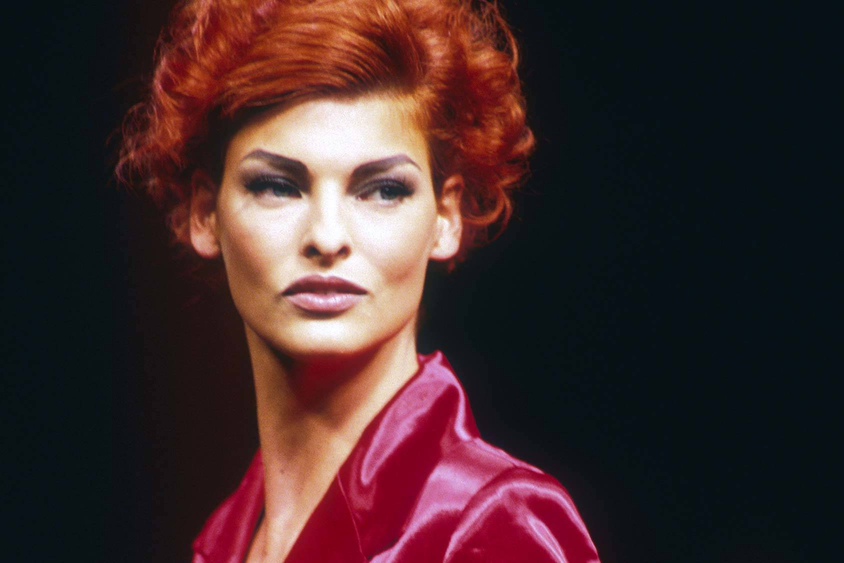90s supermodel Linda Evangelista, All Over Press.