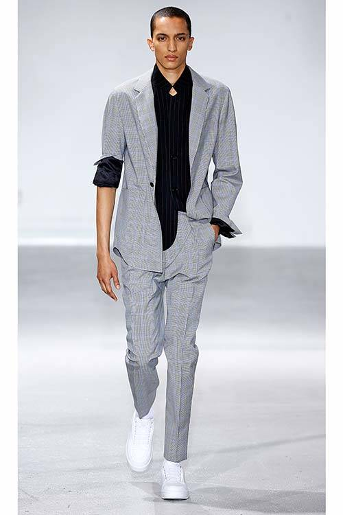 The Phillip Lim Spring/Summer 2014 suit with a 80's vibe, All Over Press.