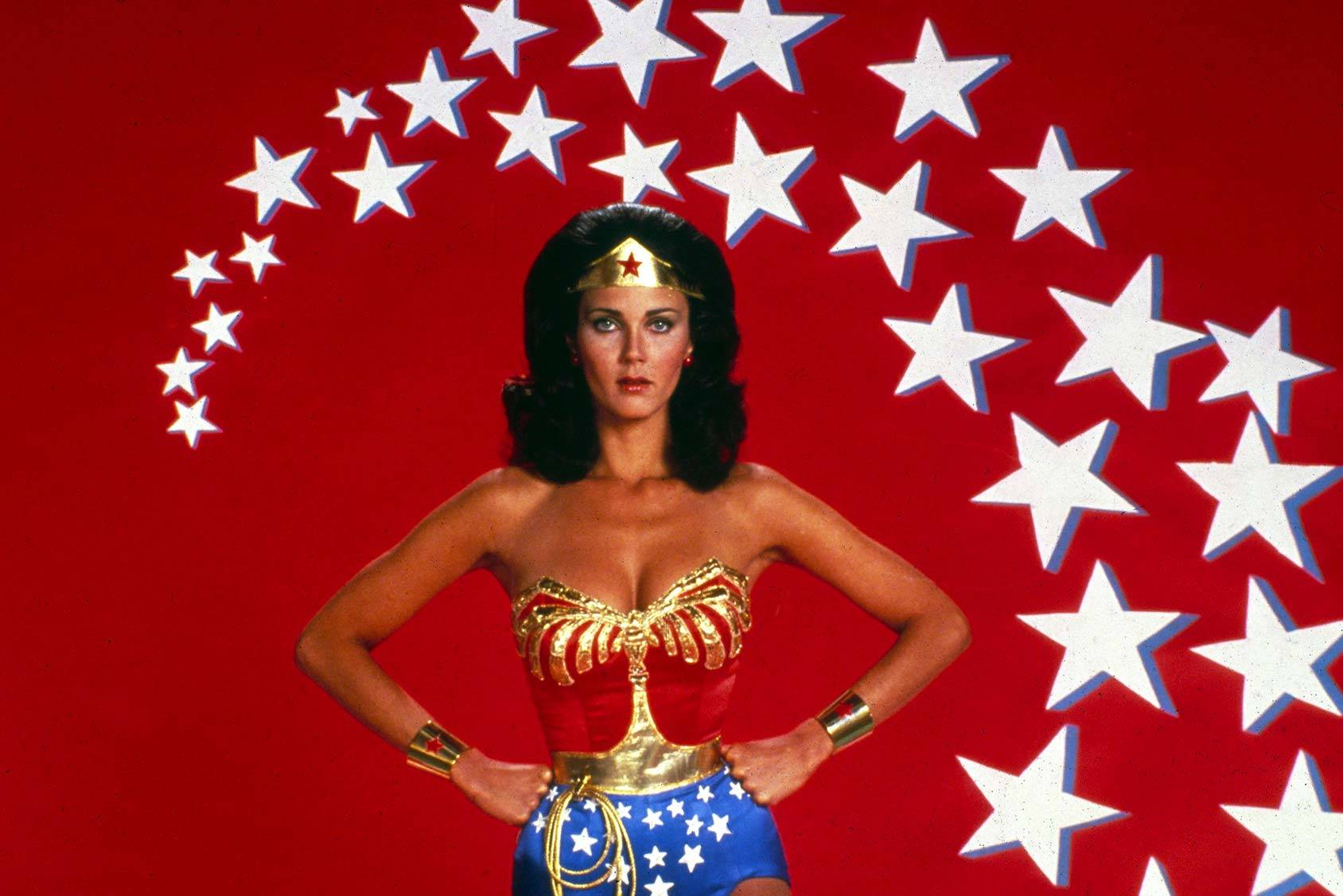 All-American superhero Lynda Carter as Wonder Woman, All Over Press.
