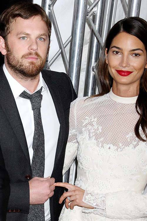 Lily Aldridge and husband Caleb Followill, All Over Press.