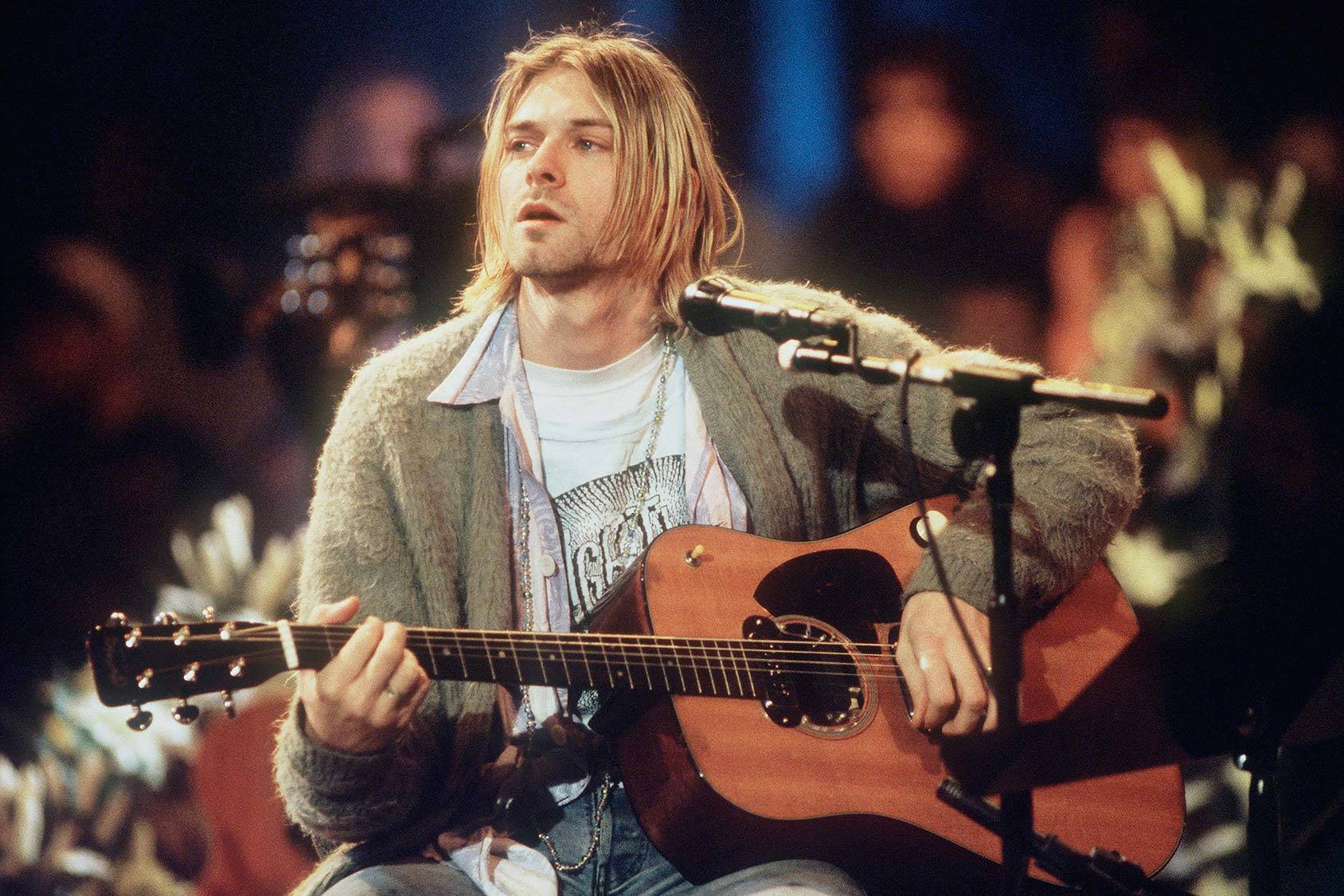 The Nirvana frontman and style icon Kurt Cobain, Getty Images.