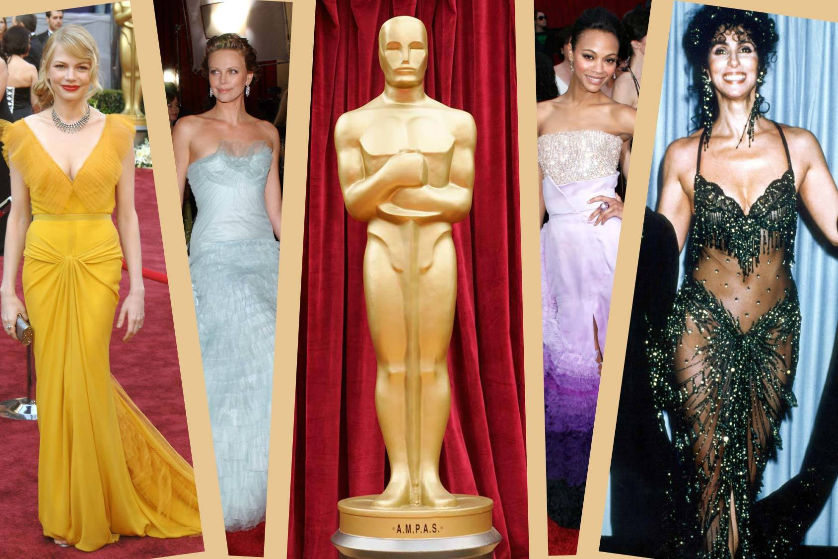From Michelle Williams yellow Vera Wang to Cher's crazy outfits. H&M Life gives you the Oscar styles to remember, All Over Press.
