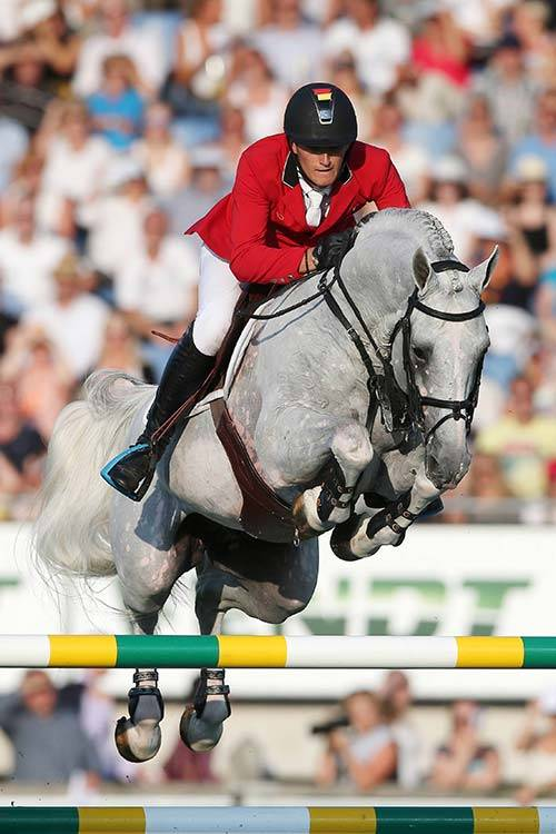 Olivier Philippaerts on his horse Cabrio v/d Heffinck, All Over Press.