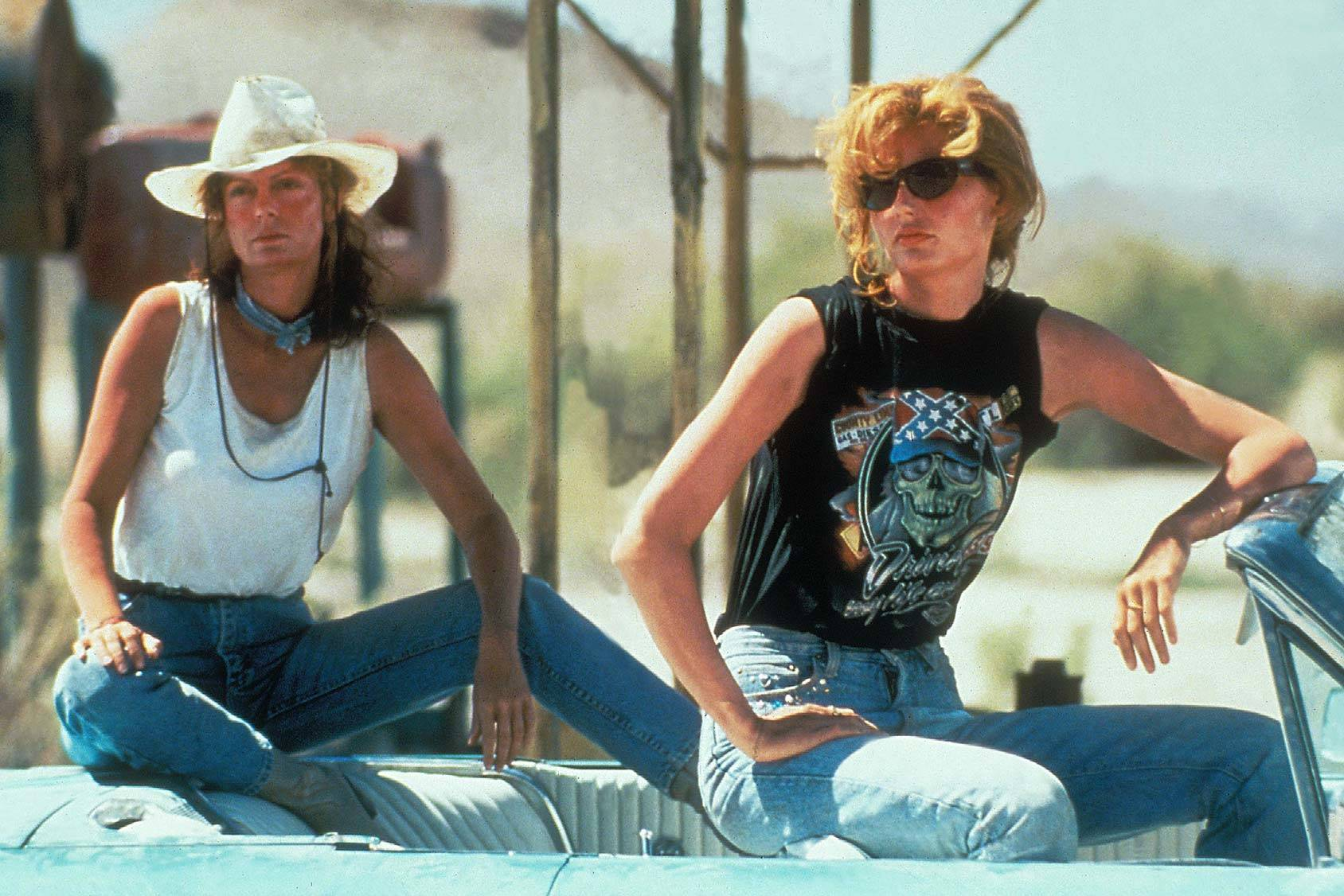 Denim icons Thelma and Louise, All Over Press.
