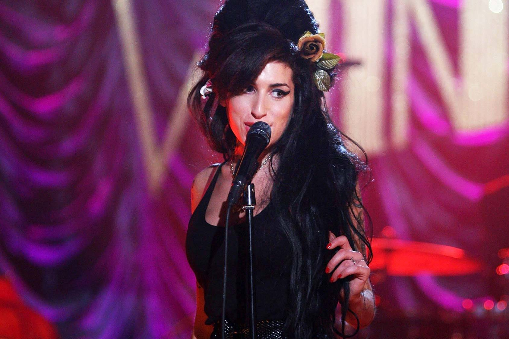 Amy Winehouse at the Grammy Awards 2008 in London, Getty Images.