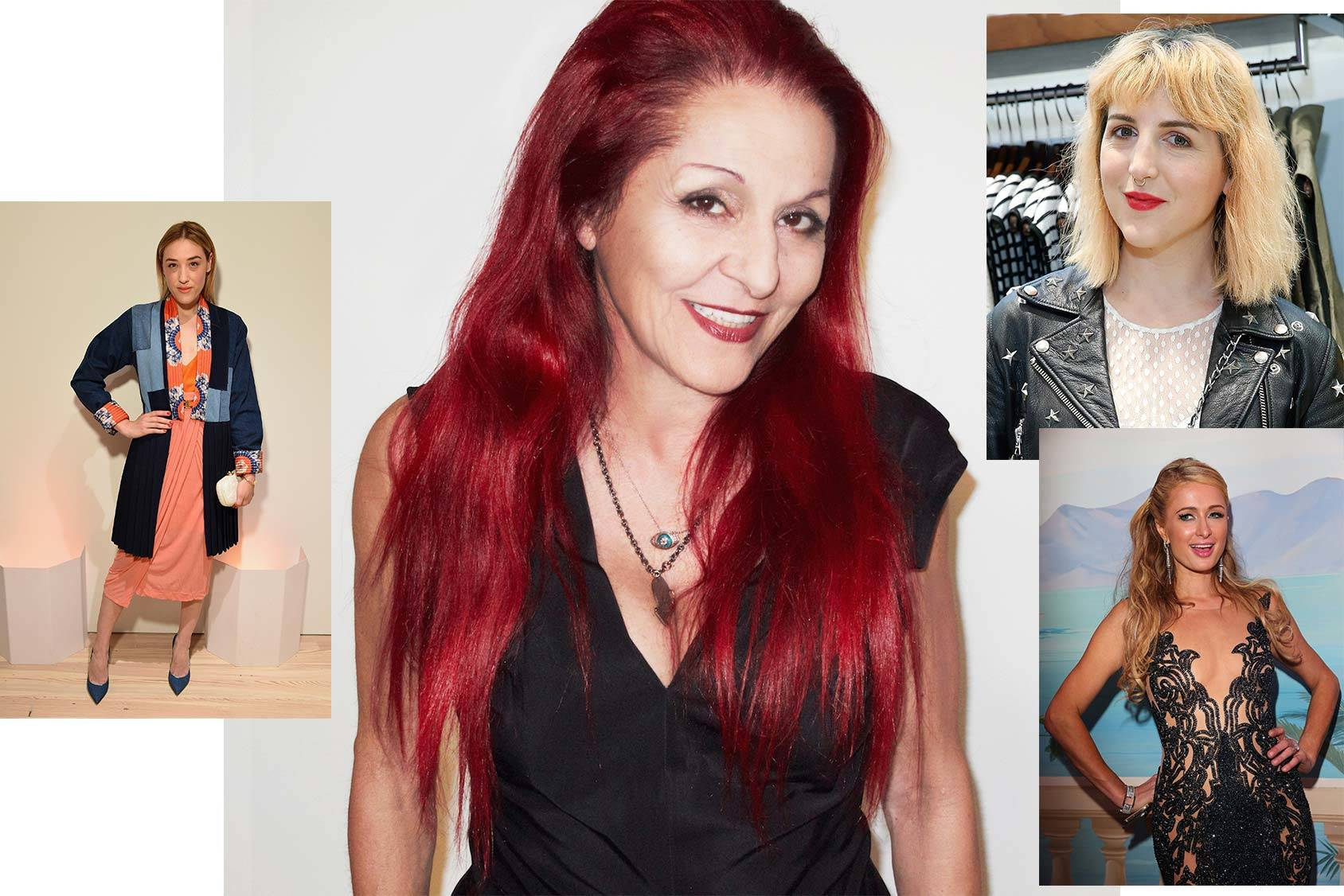 Patricia Field follows Mia Moretti, Piera Gelardi and Paris Hilton, Getty Images.