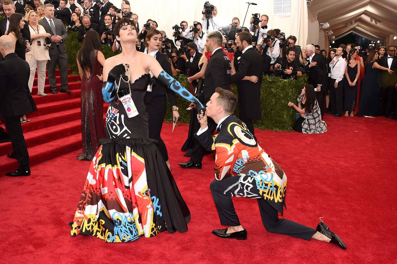 Katy Perry and Jeremy Scott at the Met Gala.