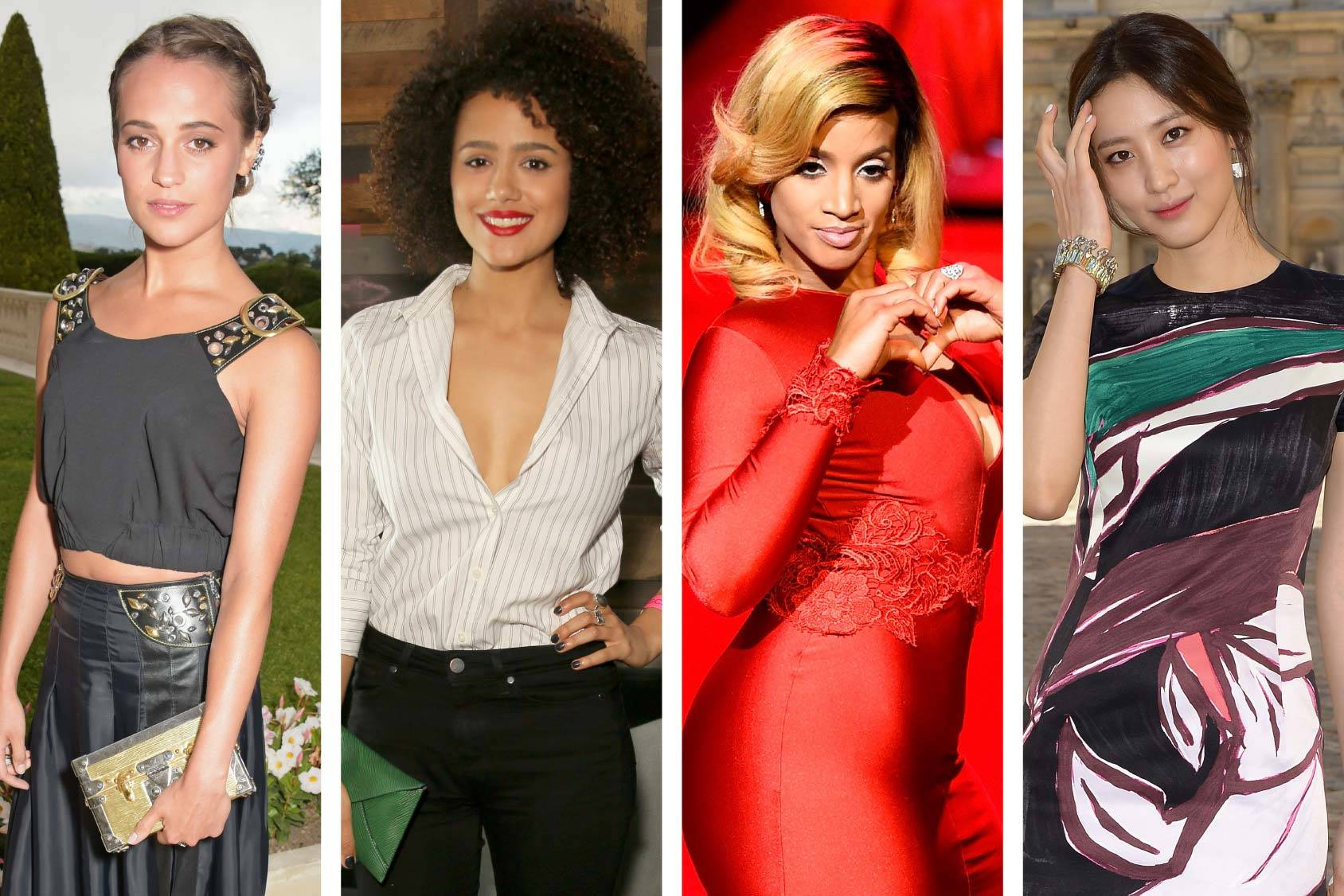 Actresses on the rise: Alicia Vikander, Nathalie Emmanuel, Dascha Polanco and Claudia Kim, Getty Images.