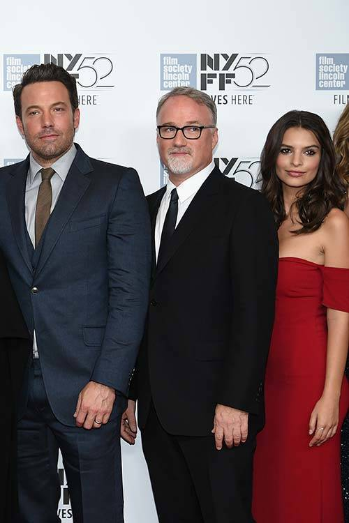 Emily with Ben Affleck and David Fincher from Gone Girl, Getty Images.