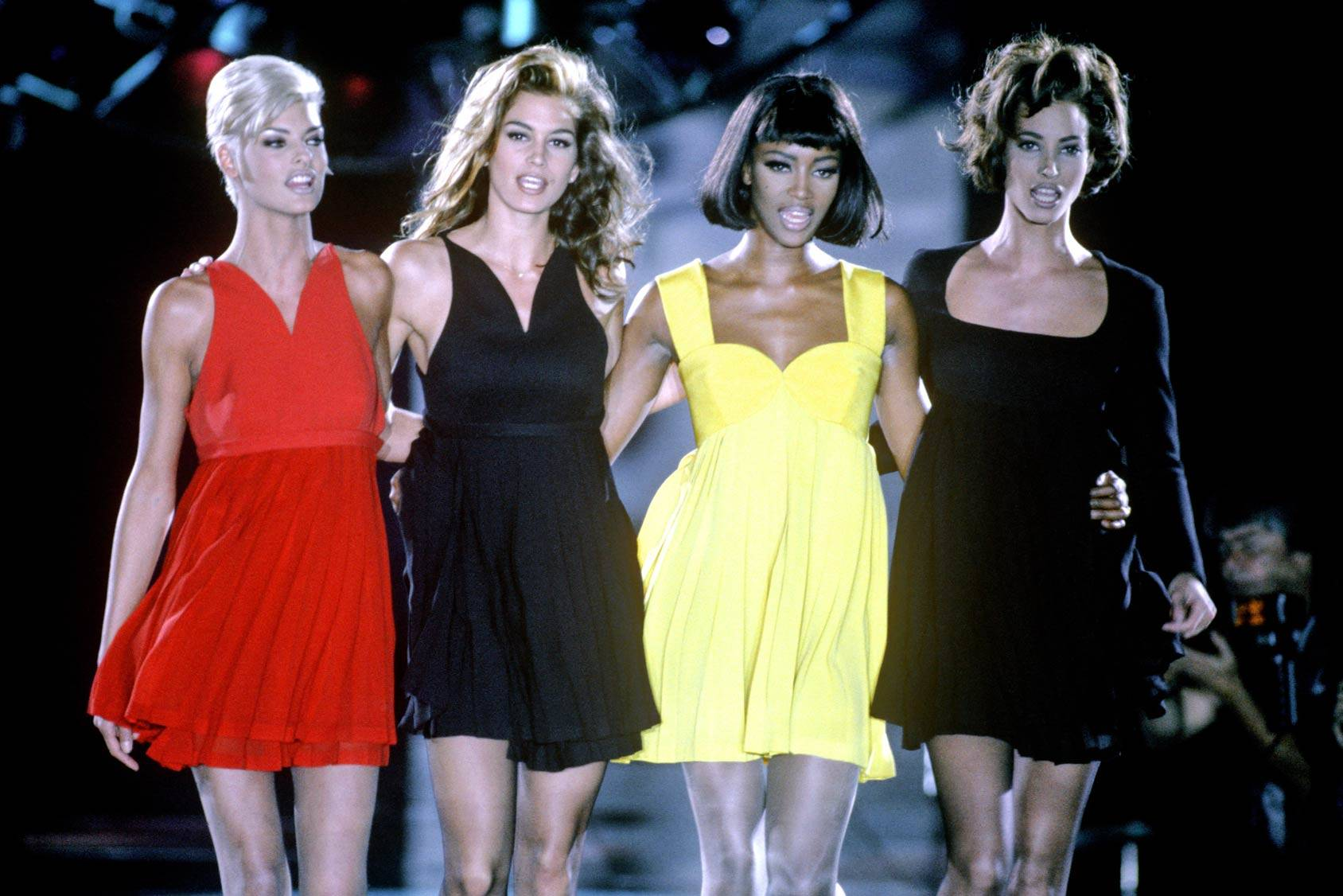 Linda Evangelista, Cindy Crawford, Naomi Campbell and Christy Turlington – the biggest supermodels of the 90s, All Over Press.